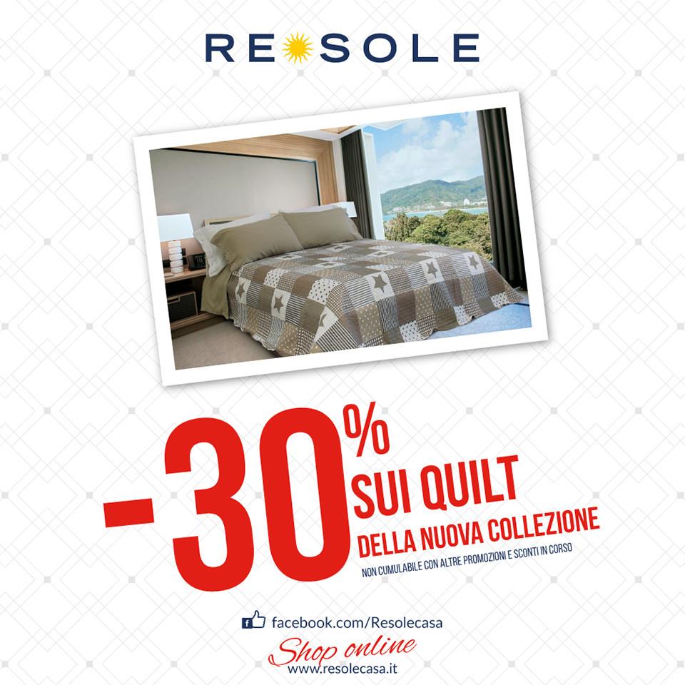 Da Re Sole -30% sui quilt della nuova collezione