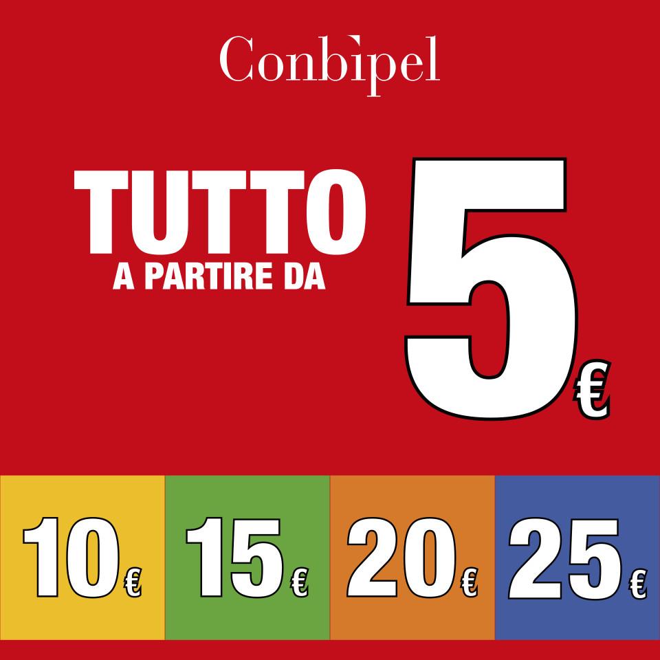 Tutto a partire da 5, 10, 15, 20, 25 Euro da Conbipel