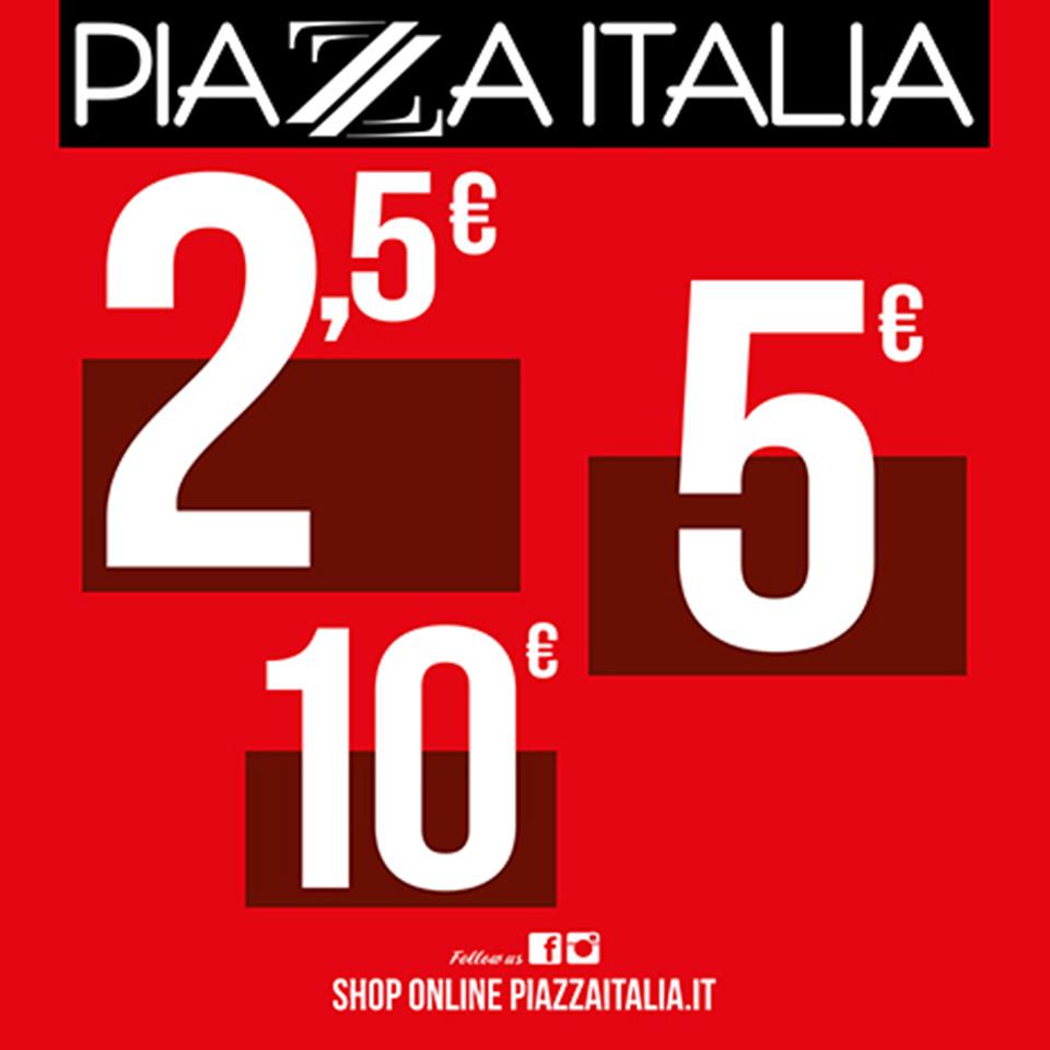 Saldi prima delle vacanze Piazza Italia