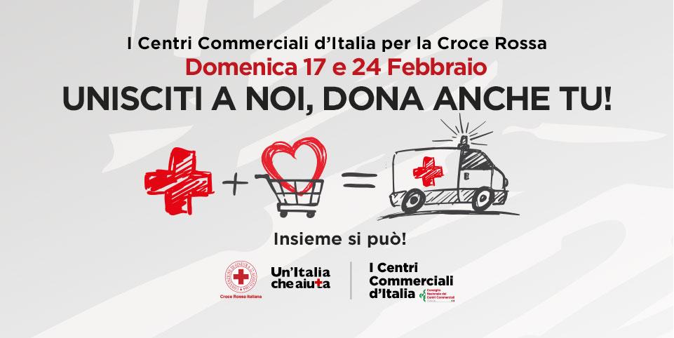 I Centri Commerciali d'Italia per la Croce Rossa