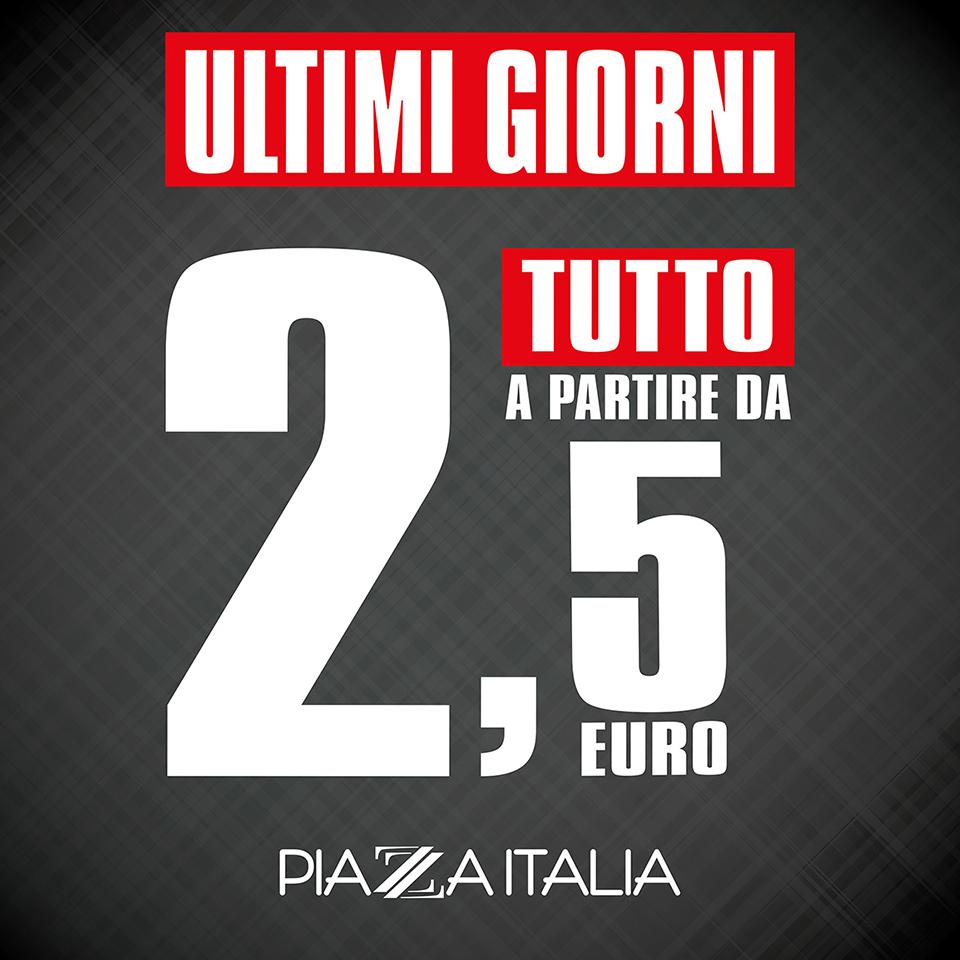Ultimi giorni di saldi da Piazza Italia