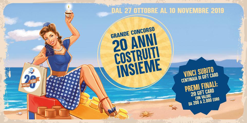"""CONCORSO """"20 ANNI COSTRUITI INSIEME"""""""