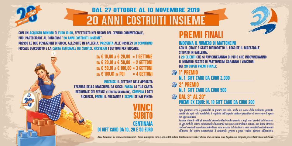 """CONCORSO """"20 ANNI COSTRUITI INSIEME"""" - regolamento"""